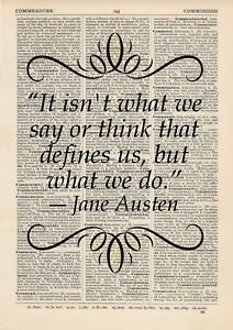 Jane Austen Isnt What We Say Think That Define Us Wall Stickers Vinyl Art Decals