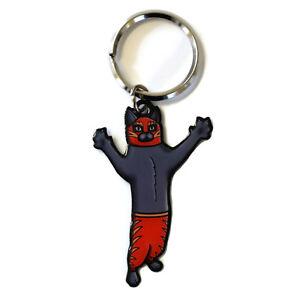Gato-Luchador-Metal-Key-Ring-Funny-Keyring-Cat-Wrestler-Cali-Pretty-In-Ink