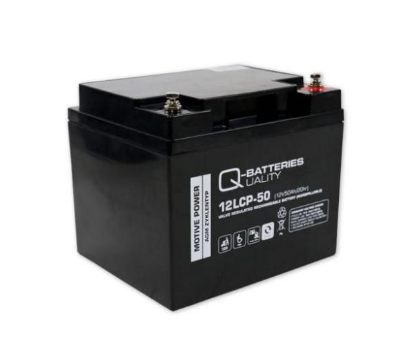12LCP-50 Ersatzakku AGM Batterie als ZYKLENFESTE Ausführung - 12V/50Ah NEU