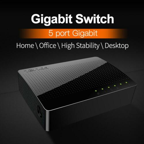 Tenda 5-Port Desktop Gigabit Switch Ethernet Network Switch LAN Hub Exchange