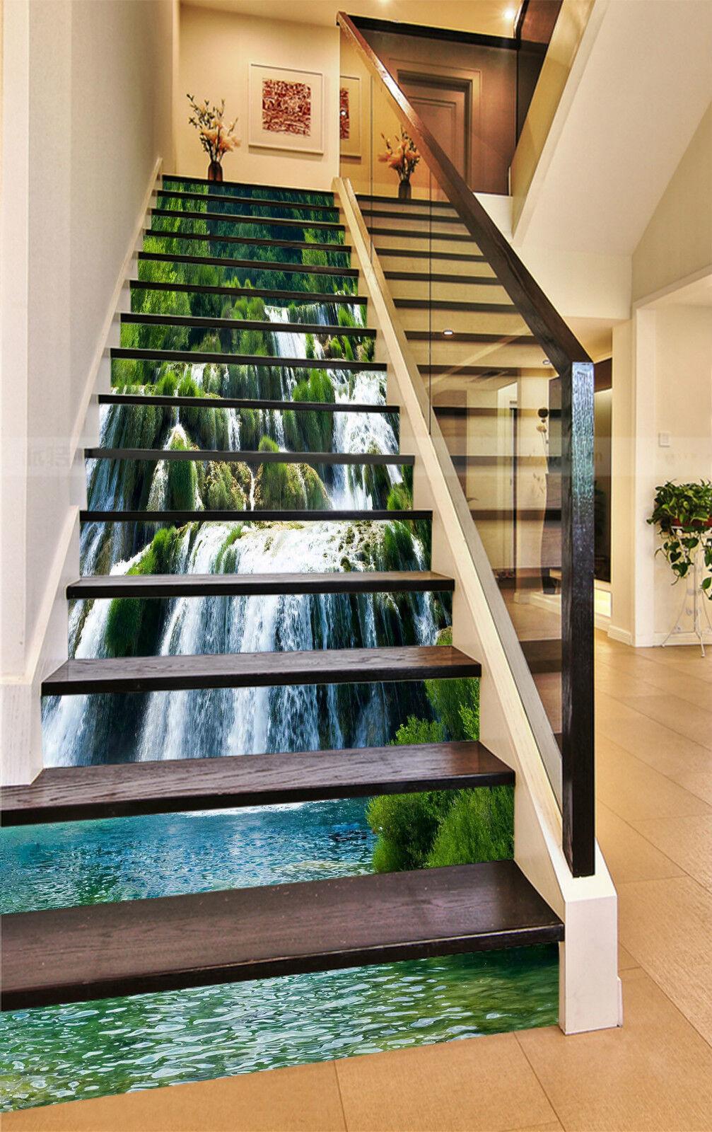 3D Landschaft 32 Stair Risers Dekoration Fototapete Vinyl Aufkleber Tapete DE