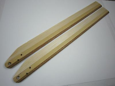 2 Prs WOOD Main Helicopter Rotor Blades Blade Mains