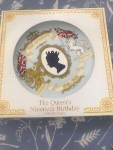 "The Queens 90th Birthday 4.5/"" Collectors Plate Royal Elizabeth II 2nd Ninetieth"