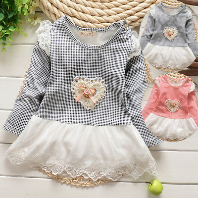 Newborn Baby Girl Clothing Cute Infant Cotton Blend Dress Toddler Pleated Dress