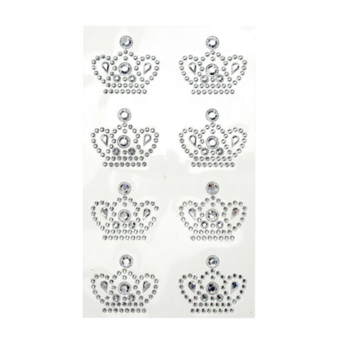 8-Count Royal Crown Adhesive Rhinestone Stickers