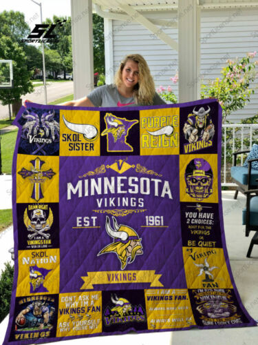 Minnesota Vikings  quilt blanket 01