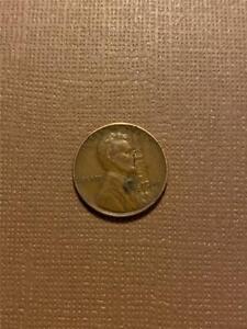 1941 Lincoln Cent Error Defective Planchet