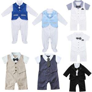 Baby-Boy-Wedding-Formal-Suit-Bowtie-Newborn-Gentleman-Romper-Tuxedo-Outfit-Suit