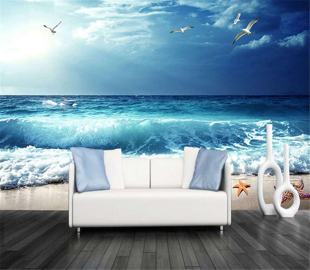 Cold Harmonious Sea 3D Full Wall Mural Photo Wallpaper Printing Home Kids Decor