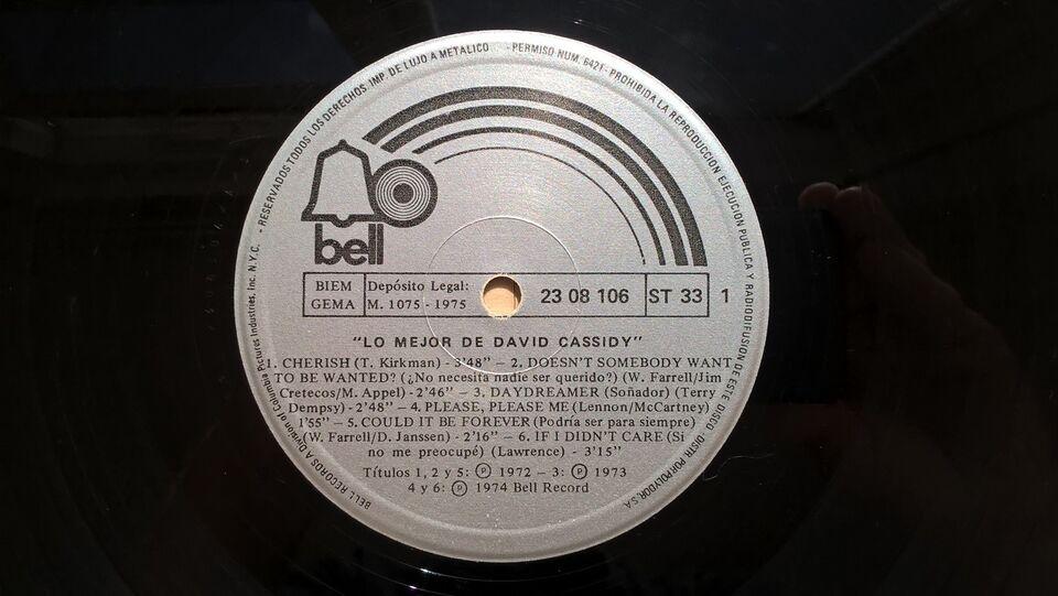LP, David Cassidy, Lo mejor de David Cassidy