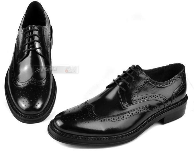 Fashion Uomo Vintage Brogue Carved Wing Tip Collegiate Lace Lace Lace Up Pelle Shoes 4cb858