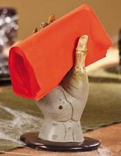 "Creepy Zombie Hand on a Bloddy Base Napkin Holder Halloween Kitchen Decor 7.5""H"