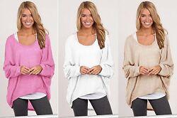 NEU Strick-Pulli Pullover Cardigan asymmetrisch lässig Sweater Oversize S/M 611