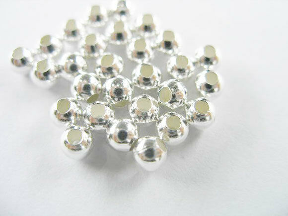 925 Sterling Silver 30 Round Beads 4 mm.