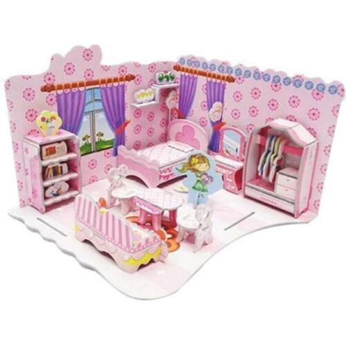 Kids Children Educational Toys DIY 3D Model Jigsaw Puzzles Girls House Castle H