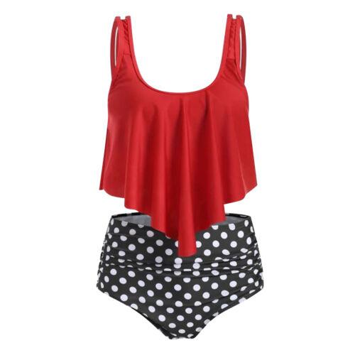 Summer Women Flounce Ruffle Bikini Set Swimwear Tankini Swimsuit Bathing Suit
