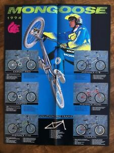 1990s Mongoose Californian Expert M1 Catalog Poster BMX Bike Vintage Old School