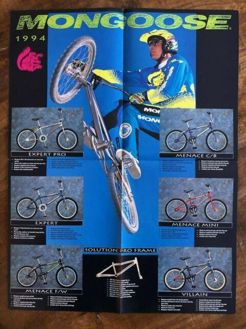 1990s Mongoose Californian Expert M1 Catalog Poster BMX Bike Vintage Old School