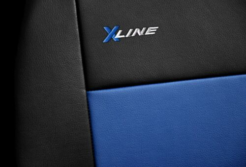 Front seat covers fit Citroen Nemo black//blue  Leatherette