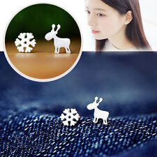 Women Girls Earring Reindeer Snowflake Ear Stud Fashion Jewelry Charm Xmas Gifts