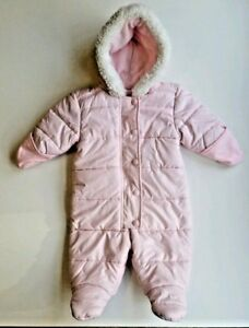 0fe95b514 Old Navy Baby Girl Pink Puffer Snowsuit Bunting - Size 3-6 Months ...