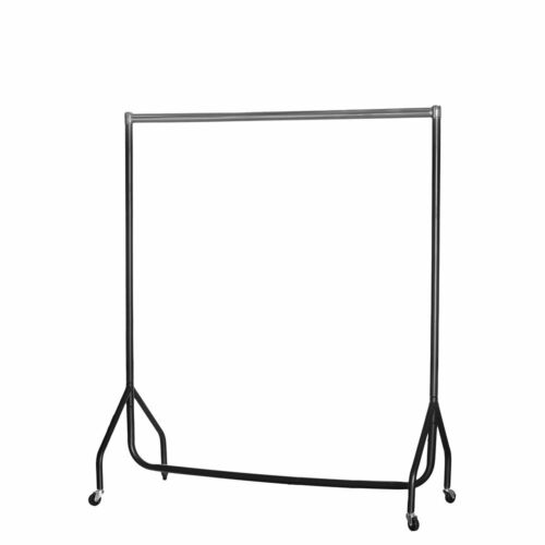 Heavy Duty Clothes Rail Black with Chrome Top Different sizes