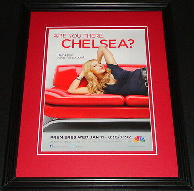 Are You There Chelsea 2012 11x14 Framed ORIGINAL Advertisement Laura Prepon