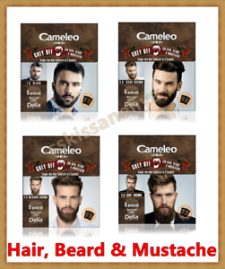Details about CAMELEO MEN Grey Off Hair Color, Beard and Mustache IN 2  SACHETS EFFECT FOR 5MIN