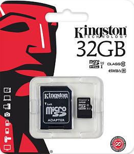 KINGSTON-MICRO-SD-32GB-CLASSE-10-CLASS-MICROSD-32-GB-SDHC-SCHEDA-DI-MEMORIA-CARD