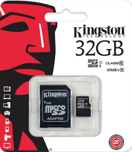 KINGSTON MICRO SD 32GB CLASSE 10 CLASS MICROSD 32 GB SDHC SCHEDA DI MEMORIA CARD