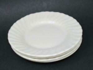 Franciscan-Coronado-Swirl-Matte-Off-White-6-3-8-039-039-Bread-amp-Butter-Plates-Quan-4