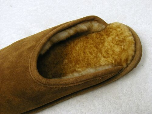 Men Sheepskin Shearling Scuff Shoes Slipper Slide Moccasins Medium D, M