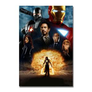 Hulk vs Iron Man Hot Movie Silk Canvas Poster 13x20 32x48 inch