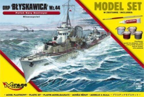 coffret cadeau WW II polonais marine phare DESTROYER 1//400 MIRAGE ORP Blyskawica