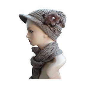 new ladies women peak hat baker boy cap scarf girl s winter hats ... 630137712e7
