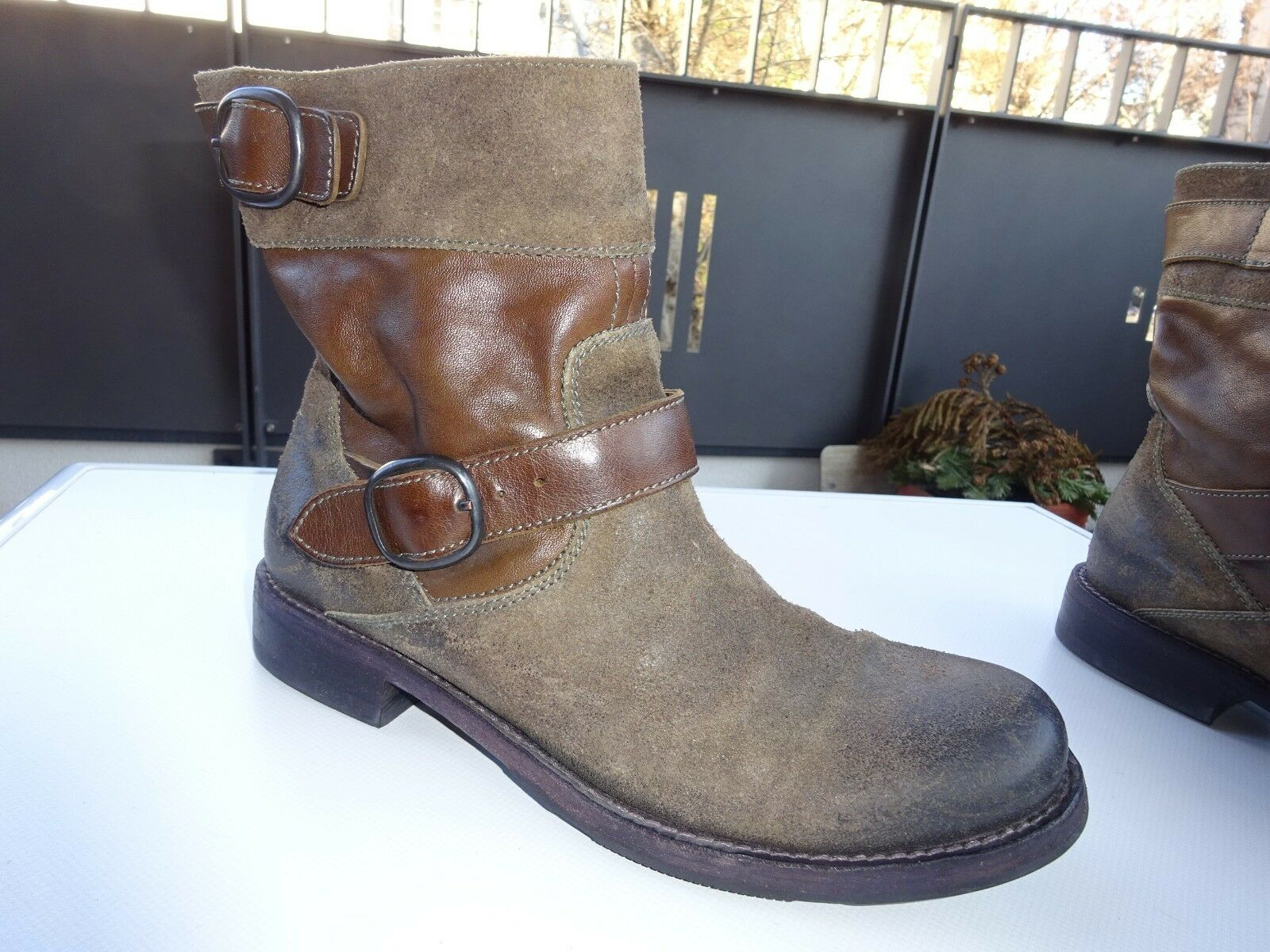 PANTANETTI by RICCARDO CARTILLONE Stiefeletten Wildleder Vintage  Gr.38 TOP