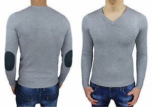 Sweater-Man-Diamond-Grey-Slim-Fit-Jersey-Cardigan-Casual-New-V-Neck