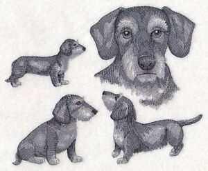 Dachshund DOG STACK NEW SET OF 2 BATH HAND TOWELS EMBROIDERED by laura