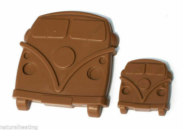 4+1 Camper Van Truck Car Bus Chocolate Candy Silicone Bakeware Mould Wax Crayons