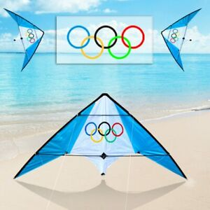 Large delta kite for kids and adults single line easy to fly kite handle inclFOS