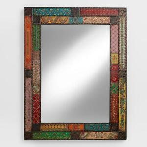 Colorful Metal Patchwork Wall Mirror Textured Hand Painted Traditional Designs Ebay