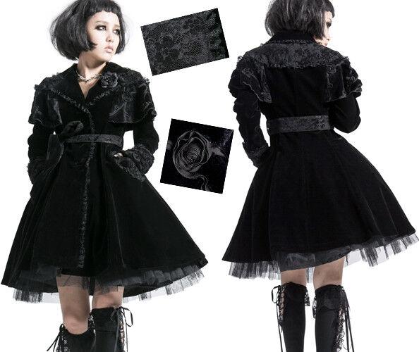 Manteau gothique lolita cape velours dentelle évasé princesse Japon Punkrave