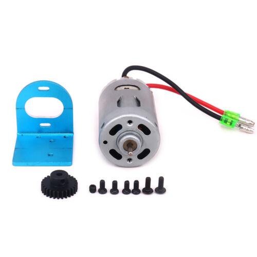 540 Brushed Motor Adjustable Mount W//Fan 27T Gear Upgrade Parts for 1//18 Wltoys