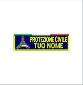 Patch-PROTEZIONE-CIVILE-TUO-NOME-con-vel-cro-cm10x3-toppa-ricamata-ricamo-965