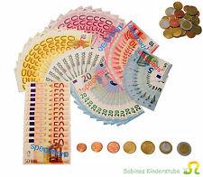 EDUPLAY  Spielgeld  Münzen + Scheine  Euro Kaufladen  Zubehör  114-tlg.  NEU