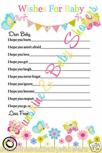 Wishes For Baby Gorgeous Baby Shower Game 20 Sheets Players Boy Girl Neutral