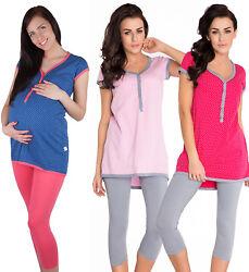 Stillpyjama Stillschlafanzug Umstandspyjama Baumwolle Mama Pyjama sets