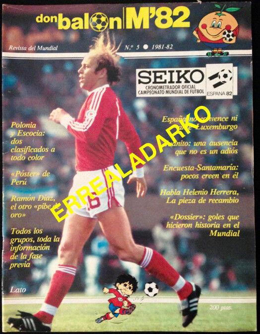 REVISTA DON BALON Nº5 FUTBOL MUNDIAL 82 ESPAÑA 1982