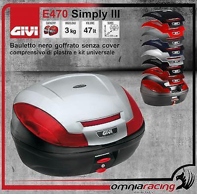 GIVI E470 Simply III - 47 Lt. Black Monolock Case without Cover