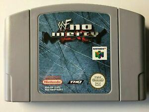 WWF No Mercy-PAL N64 Nintendo 64 Genuino-Cartucho únicamente Sin Caja
